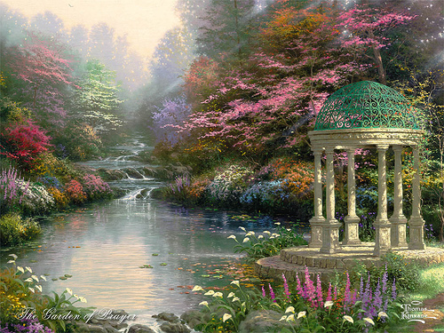 thomas kinkade a beauty which never was on land or sea dreaming beneath the spires